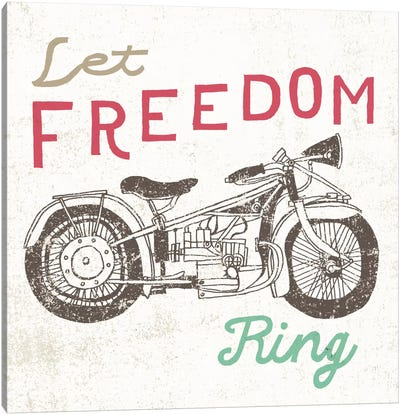 Road Trip Motorcycle Canvas Art Print