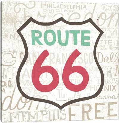 Road Trip Route 66 Canvas Art Print