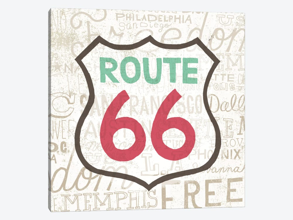 Road Trip Route 66 by Oliver Towne 1-piece Canvas Artwork