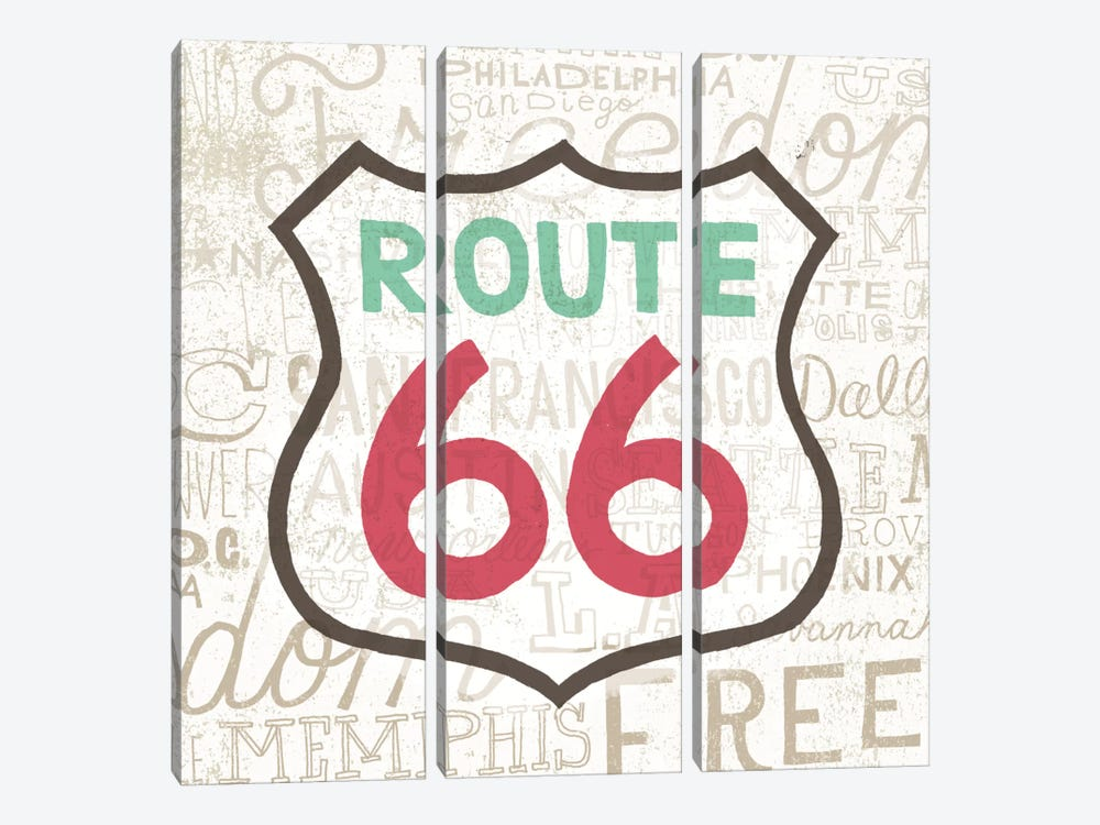 Road Trip Route 66 by Oliver Towne 3-piece Canvas Artwork