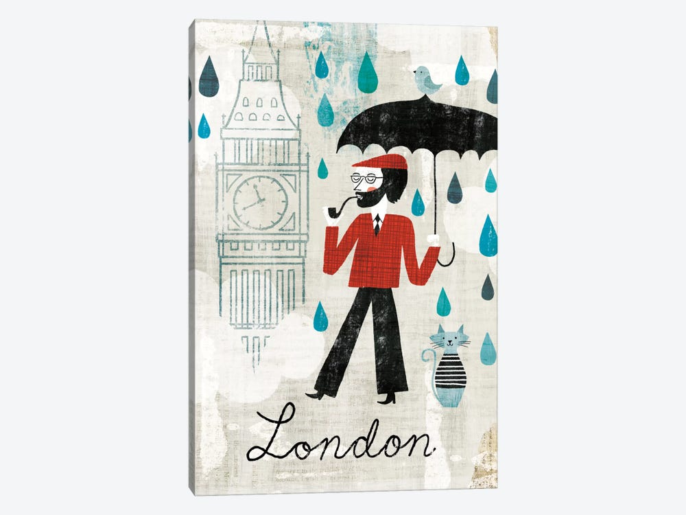 Rainy Day London by Michael Mullan 1-piece Art Print