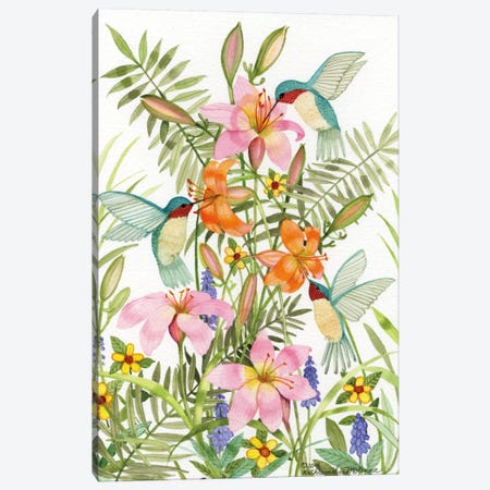 Anniversary Daylilies Canvas Print #WAC2286} by Kathleen Parr McKenna Canvas Wall Art