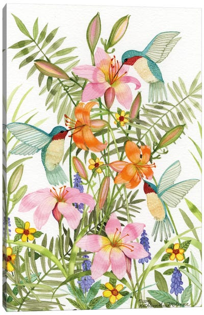 Anniversary Daylilies Canvas Art Print
