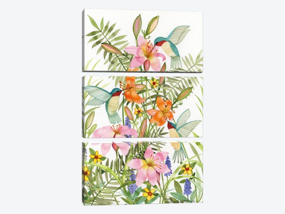 Anniversary Daylilies by Kathleen Parr McKenna 3-piece Art Print