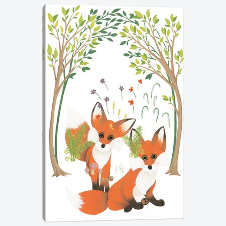 Fox Family Elements Canvas Print #WAC2288} by Elyse DeNeige Canvas Print