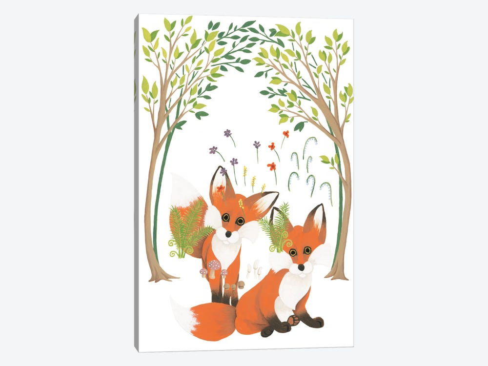 Fox Family Elements by Elyse DeNeige 1-piece Canvas Print