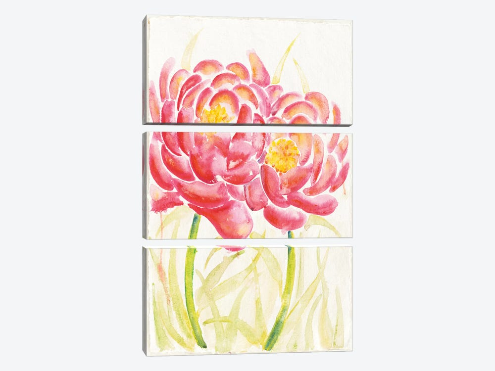 Floral Delight I 3-piece Canvas Print