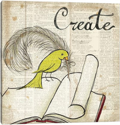 Bird Inspiration - Create Canvas Art Print
