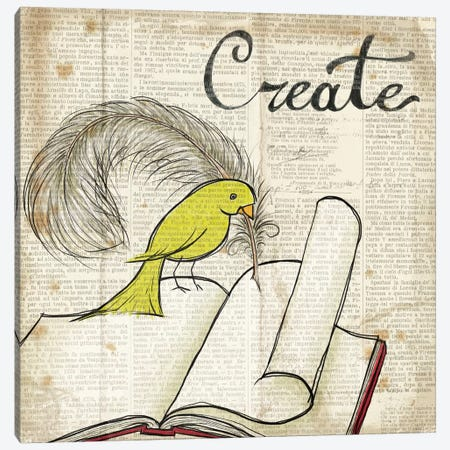 Bird Inspiration - Create Canvas Print #WAC2307} by Elyse DeNeige Canvas Art Print