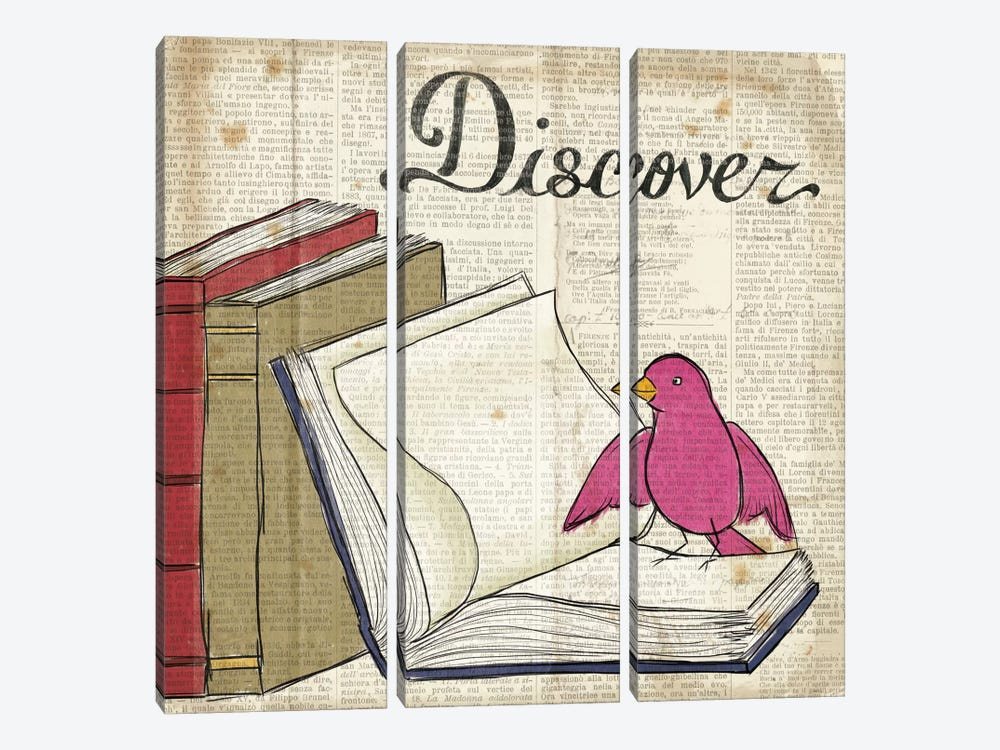 Bird Inspiration - Discover by Elyse DeNeige 3-piece Canvas Wall Art