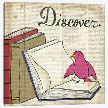 Bird Inspiration - Discover Canvas Print #WAC2308} by Elyse DeNeige Canvas Artwork
