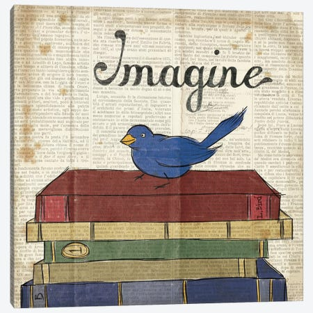Bird Inspiration - Imagine Canvas Print #WAC2309} by Elyse DeNeige Canvas Wall Art