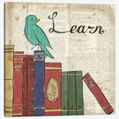 Bird Inspiration - Learn Canvas Print #WAC2310} by Elyse DeNeige Canvas Print