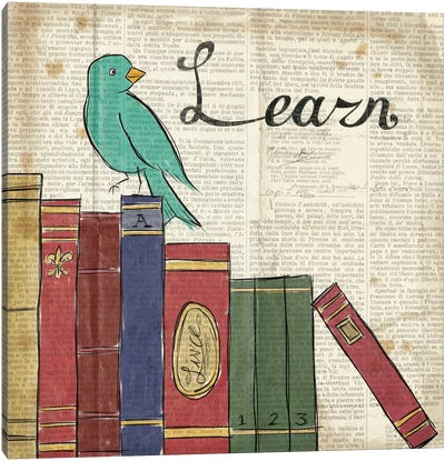 Bird Inspiration - Learn Canvas Art Print