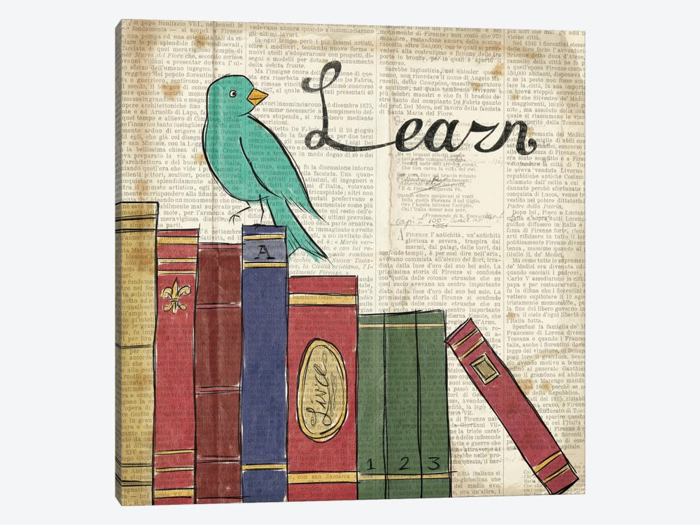 Bird Inspiration - Learn by Elyse DeNeige 1-piece Canvas Art Print