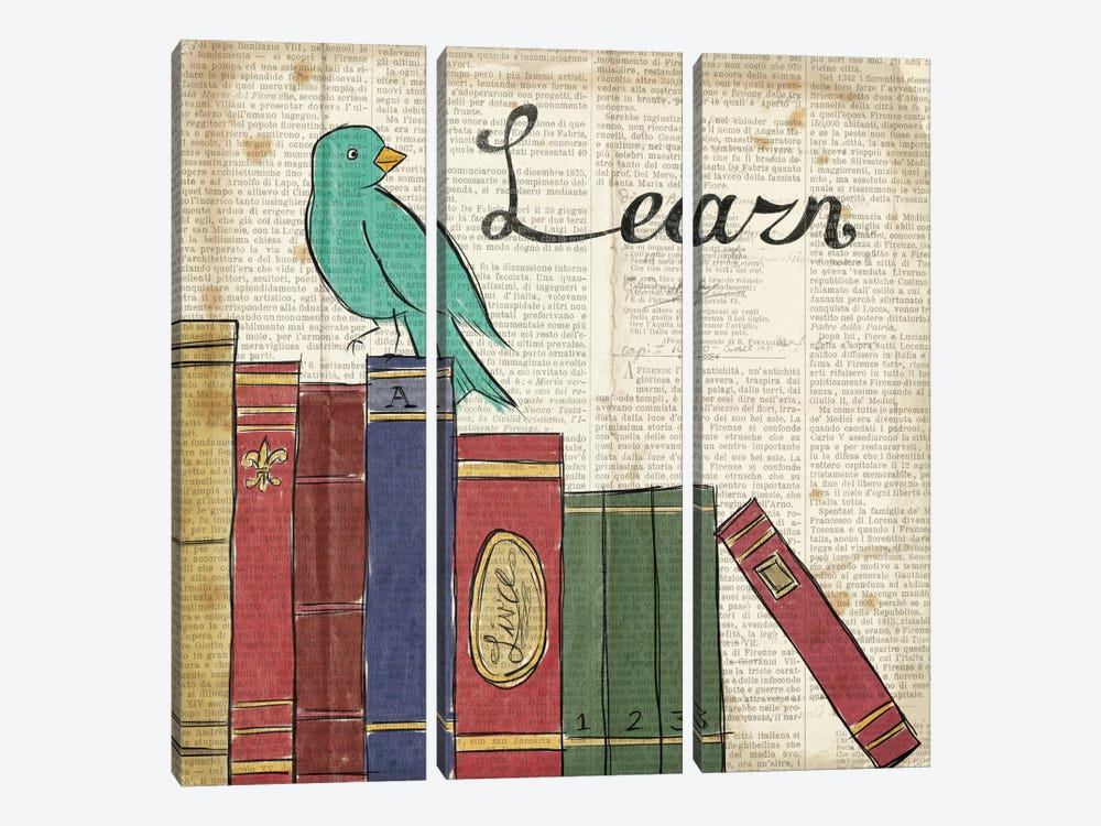 Bird Inspiration - Learn by Elyse DeNeige 3-piece Art Print