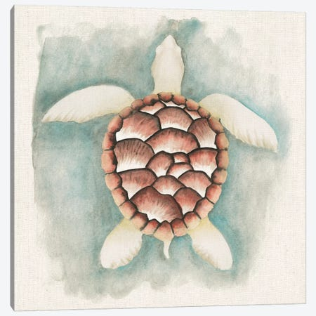 Coastal Mist - Sea Turtle 3-Piece Canvas #WAC2318} by Elyse DeNeige Canvas Print
