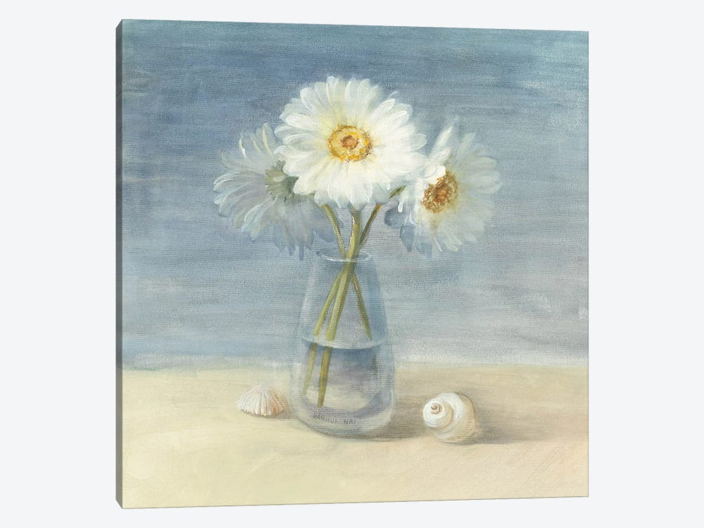 Daisies and Shells by Danhui Nai 1-piece Canvas Print