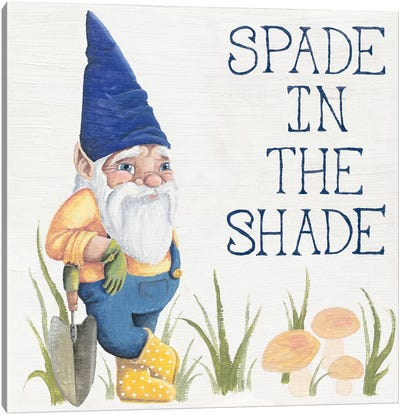 Spade in the Shade Canvas Art Print