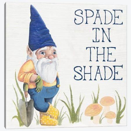 Spade in the Shade Canvas Print #WAC2325} by Elyse DeNeige Canvas Art Print