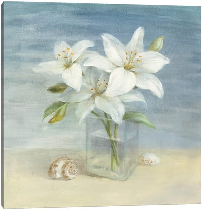 Lilies and Shells Canvas Art Print