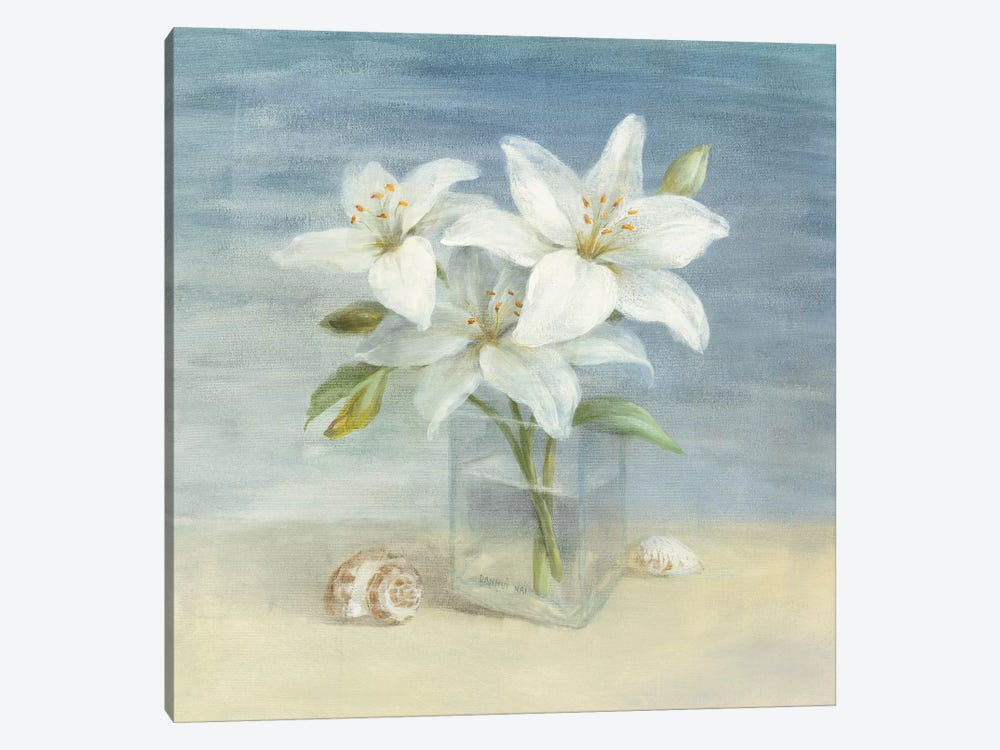 Lilies and Shells by Danhui Nai 1-piece Canvas Wall Art