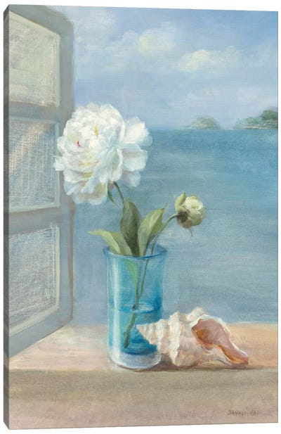 Coastal Floral I Canvas Art Print