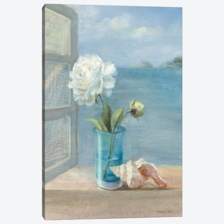 Coastal Floral I Canvas Print #WAC233} by Danhui Nai Art Print