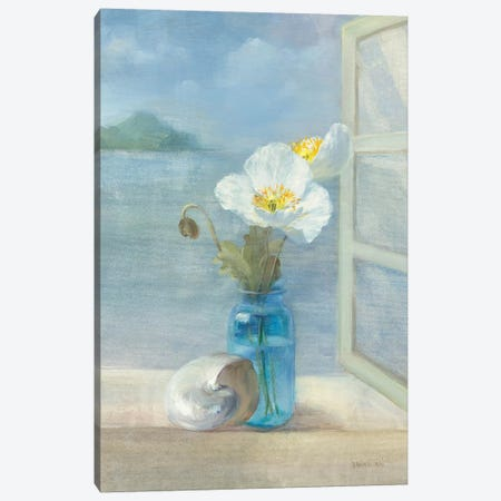 Coastal Floral II Canvas Print #WAC234} by Danhui Nai Canvas Wall Art