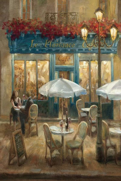 Paris Cafe I Crop Canvas Wall Art By Danhui Nai Icanvas