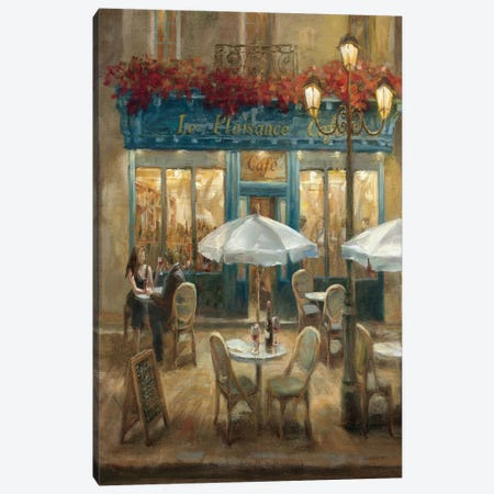Paris Cafe I Crop Canvas Print #WAC235} by Danhui Nai Canvas Artwork