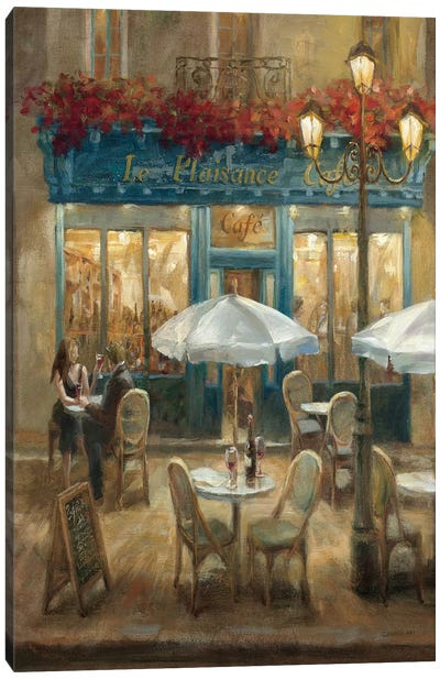 Paris Cafe I Crop Canvas Art Print