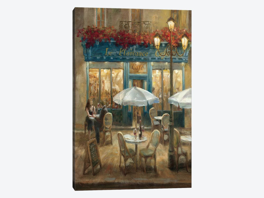 Paris Cafe I Crop 1-piece Canvas Print