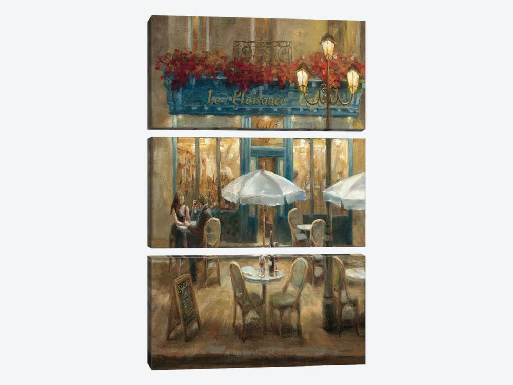 Paris Cafe I Crop by Danhui Nai 3-piece Canvas Art Print