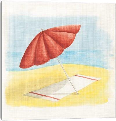 My Beach House Weekend Series: Umbrella Canvas Print #WAC2365
