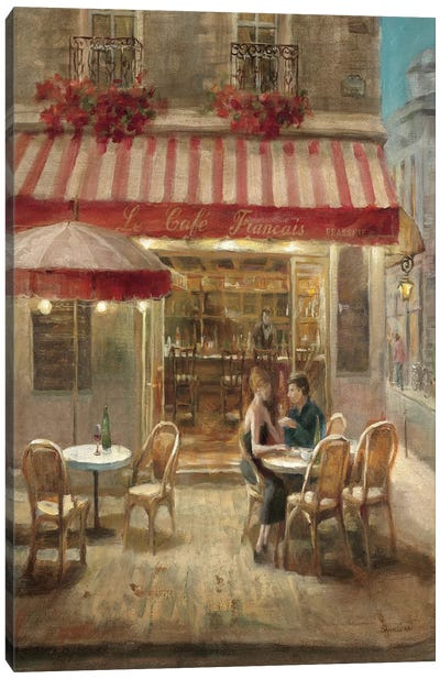 Paris Cafe II Crop Canvas Art Print