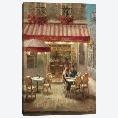 Paris Cafe II Crop Canvas Print #WAC236} by Danhui Nai Canvas Wall Art