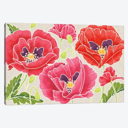 Sunshine Poppies Canvas Print #WAC2370} by Elyse DeNeige Canvas Art Print