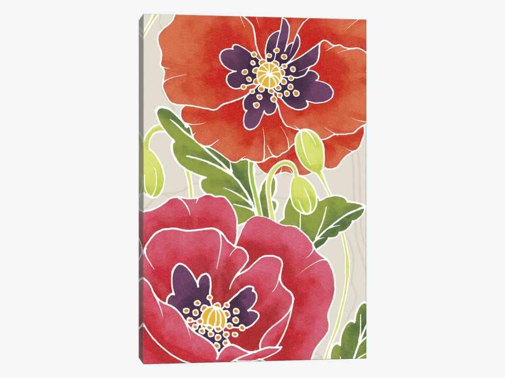 Sunshine Poppies Panel I by Elyse DeNeige 1-piece Canvas Wall Art
