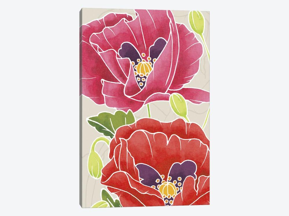 Sunshine Poppies Panel II by Elyse DeNeige 1-piece Art Print