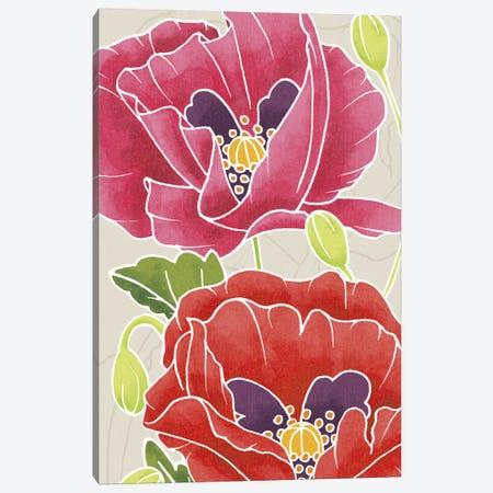 Sunshine Poppies Panel II Canvas Print #WAC2372} by Elyse DeNeige Art Print
