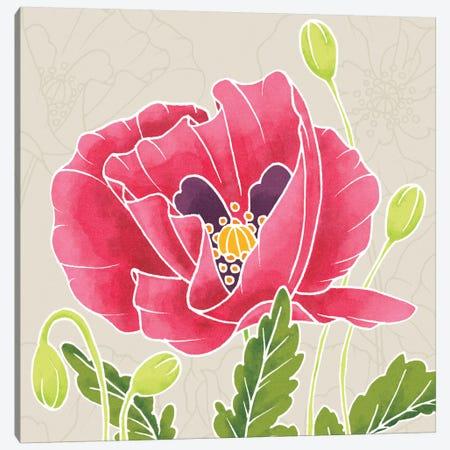 Sunshine Poppies Square II Canvas Print #WAC2375} by Elyse DeNeige Canvas Wall Art