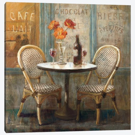 Meet Me at Le Cafe I Canvas Print #WAC239} by Danhui Nai Art Print