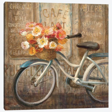 Meet Me at Le Cafe II Canvas Print #WAC240} by Danhui Nai Canvas Artwork