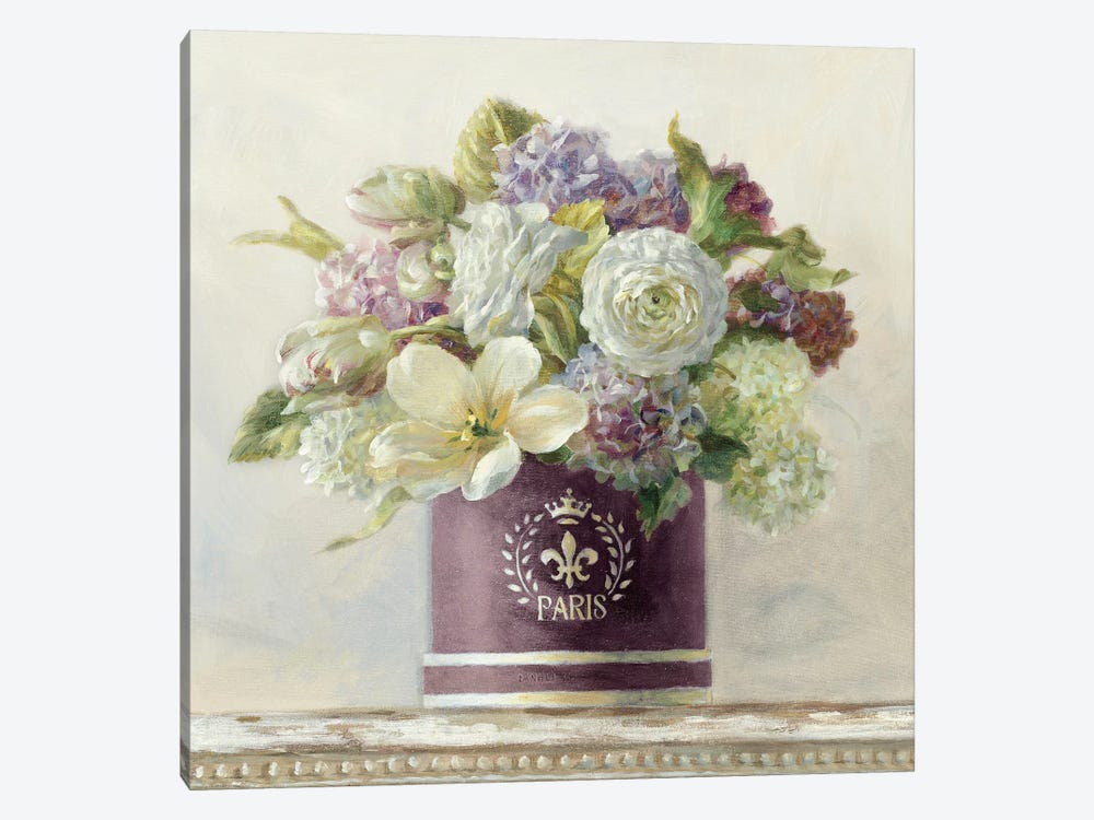Tulips in Aubergine Hatbox by Danhui Nai 1-piece Art Print