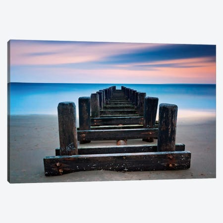 Coney Island Pier Canvas Print #WAC2445} by Katherine Gendreau Canvas Wall Art