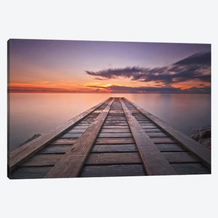 Cosmic Dock Canvas Print #WAC2446} by Katherine Gendreau Canvas Artwork