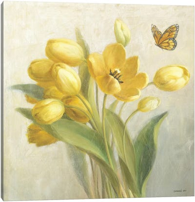 Yellow French Tulips Canvas Art Print