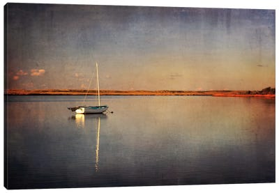Last Boat in the Bay Canvas Art Print