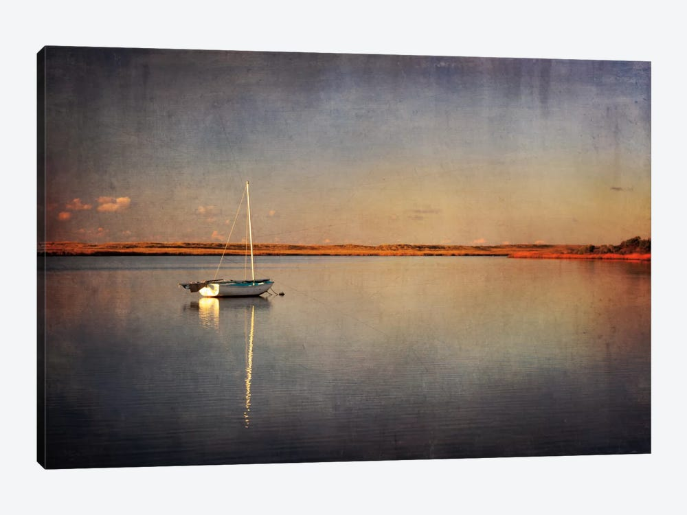 Last Boat in the Bay by Katherine Gendreau 1-piece Canvas Wall Art